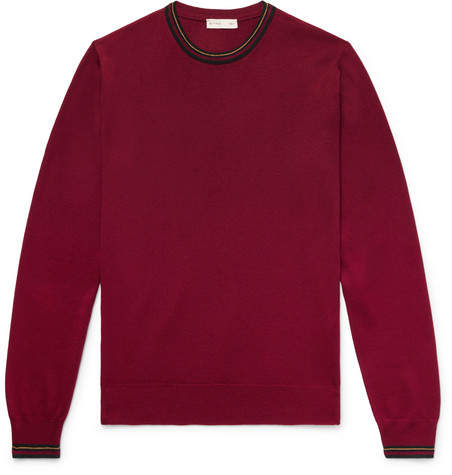 Etro Contrast-Tipped Wool Sweater