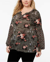 Style&Co. Style & Co Plus Size Floral-Print Top, Created for Macy's
