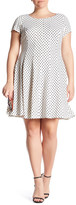 Taylor Printed Flare Dress (Plus Size)