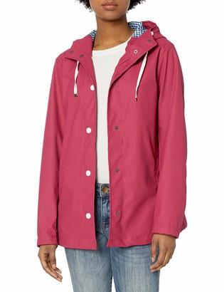 Pink Platinum Women's Waterproof Rain Slicker Outdoor Hooded Raincoat