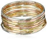 Melissa Joy Manning MJM Classic 14k Mixed Gold Stacking Rings, Size 7
