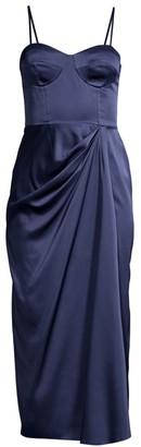 Flor Et. Al Wallis Satin Bustier Dress