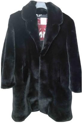 Sandro Fall Winter 2019 Black Faux fur Coat for Women