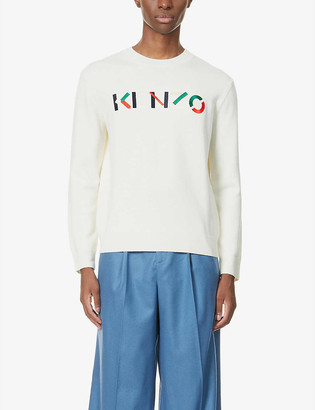 Kenzo Logo-print wool jumper