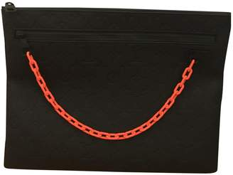 Pochette A4 Black Leather Bag