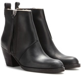Acne Studios Pistol Short Shearling-lined Leather Ankle Boots