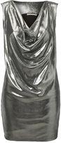 Kookai Metallic lamee drape mini dress