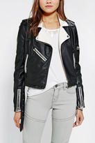 Urban Outfitters Members Only Vegan Leather Colorblock Moto Jacket