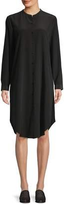 Eileen Fisher Long-Sleeve Silk Tunic