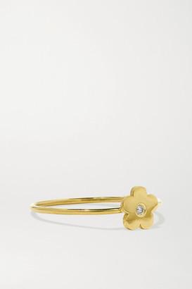 Jennifer Meyer Mini Daisy 18-karat Gold Diamond Ring - 5
