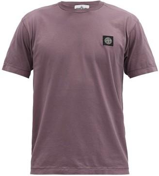 Stone Island Logo-patch Cotton-jersey T-shirt - Purple