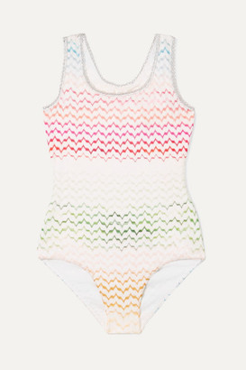 Missoni Kids - Crochet-knit Swimsuit - Pink