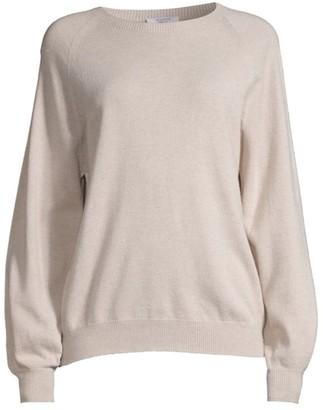 Peserico Crewneck Bubble-Sleeve Sweater