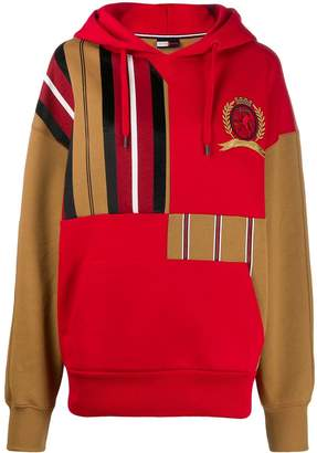 Tommy Hilfiger striped patchwork hoody
