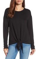 Bobeau Women's Tie Front Sweatshirt