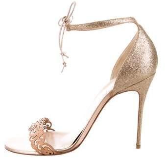Christian Louboutin Laser Cut Glitter Sandals
