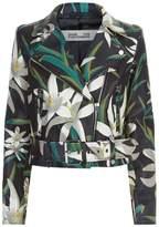 Diane von Furstenberg Floral Print Cropped Jacket