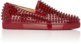 Christian Louboutin Men's Roller-Boat Slip-On Sneakers-RED