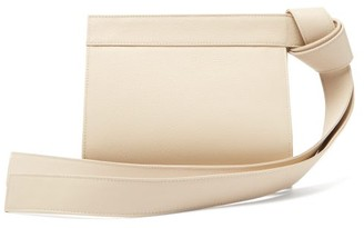 Tsatsas Tape Xs Grained-leather Clutch Bag - Womens - Ivory