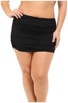Lauren Ralph Lauren Plus Size Beach Club Solids Ultra High Waist Skirted Hipster Bottoms