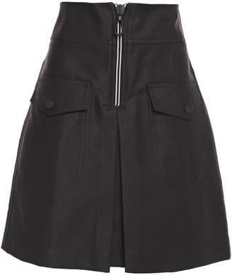 Sandro Aliya Pleated Cotton-blend Twill Mini Skirt