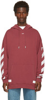 Off-White Red Diagonal Arrows Over Hoodie