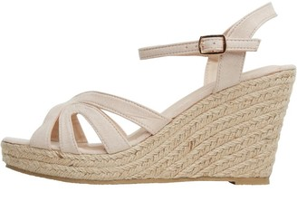 Onfire Womens Espadrille Wedge Sandals Nude