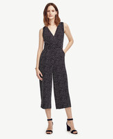 Ann Taylor Dotted Sleeveless Jumpsuit