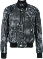 Versus palm tree print bomber jacket