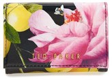 Ted Baker Women's 'Citrus Bloom - Shanita' Printed Leather Coin Purse - Black