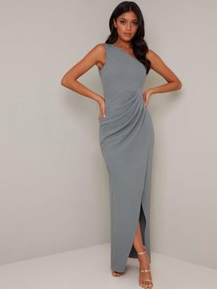 Chi Chi London Kaory Split Skirt Maxi Dress - Green