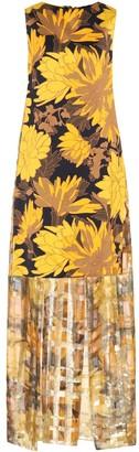 Dries Van Noten Floral cape dress