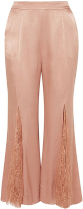Alice McCall Run To You Lace-paneled Satin Flared Pants