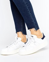 adidas Bold Double Sole White And Black Stan Smith Sneakers