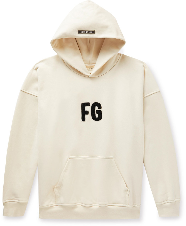Fear Of God Oversized Logo-Appliqued Loopback Cotton-Jersey Hoodie