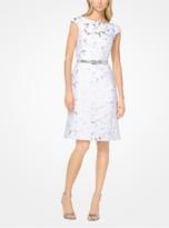 Michael Kors Palm Brocade Dress