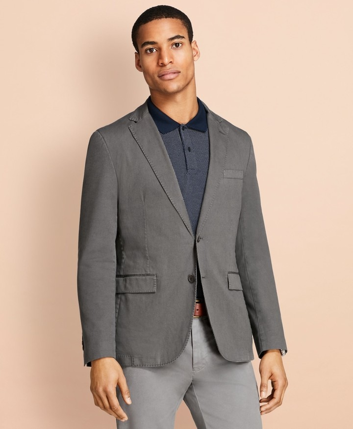 86220cb16176 Mens Grey Cotton Blazer - ShopStyle
