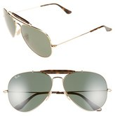 Ray-Ban Men's 'Outdoorsman Ii' 62Mm Sunglasses - Gold/ Dark Green