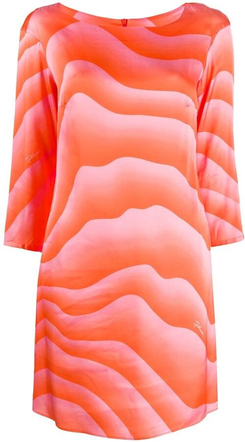 Just Cavalli Long-Sleeve Shift Dress