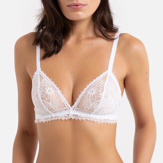 Balzac Paris X La Redoute Collections Laced Non-Underwired Triangle Bralette