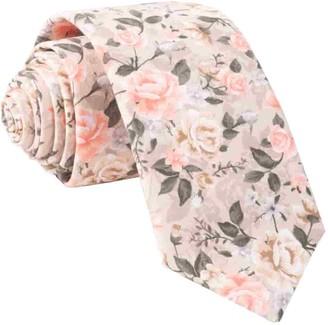Tie Bar Gardenia Blooms Champagne Tie