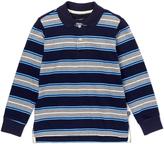 E-Land Kids Navy & Gray Stripe Polo - Toddler & Boys
