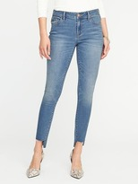 Old Navy Mid-Rise Rockstar Super Skinny Step-Hem Jeans