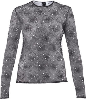 MSGM Embroidered Blouse