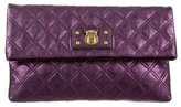 Marc Jacobs Quilted Metallic Leather Clutch
