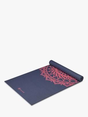 Gaiam Premium Marrakesh 4mm Yoga Mat, Navy Fleur