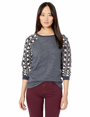 Jag Jeans Women's Trixie Lace Sleeve Sweatshirt