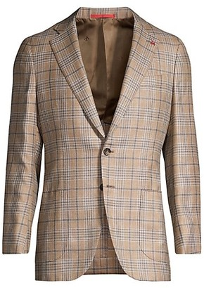 Isaia Plaid Wool Jacket