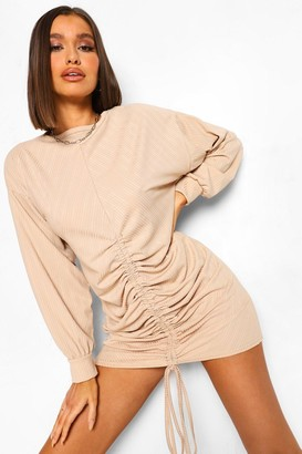 boohoo Ruched Slouchy Shift Dress