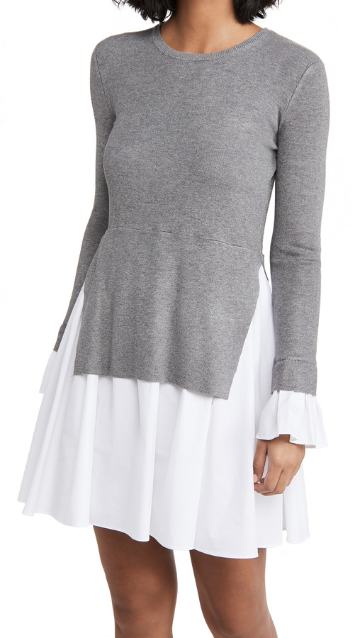 Thumbnail for your product : ENGLISH FACTORY Knit Combo Dress